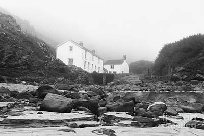 Photograph - Kynance Cove Cottages In The Mist by Terri Waters