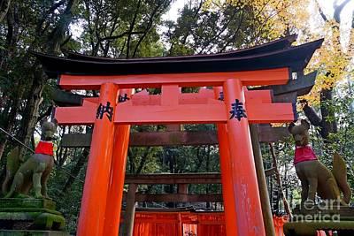 Apan Photograph - Kyoto Fushimi Shrine-4 by Sergey Reznichenko