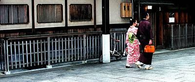 Photograph - Kyoto -  Gion District - Geisha Quarter by Jacqueline M Lewis