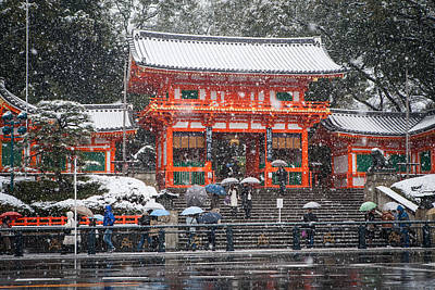 Photograph - Kyoto Snowfall by Randy Green