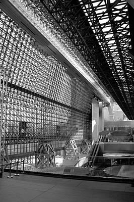Futurism Architecture Wall Art - Photograph - Kyoto Station by Jenny Hudson