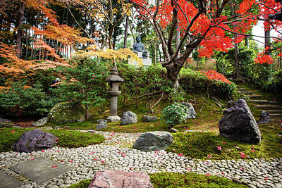 Photograph - Kyoto Zen Temple Garden With Stone by Claire Takacs