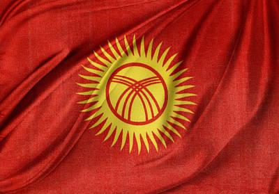 Kyrgyzstan Photograph - Kyrgyzstan Flag by Les Cunliffe