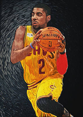 Lebron James Jersey Digital Art - Kyrie Irving by Taylan Apukovska
