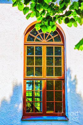 Photograph - Kyrka Window by Rick Bragan