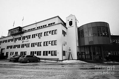 kystverket norwegian coastal administration building Honningsvag finnmark norway europe Art Print by Joe Fox