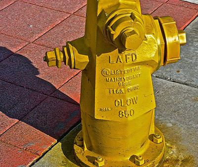 Photograph - L A F D Main Hydrant by Bill Owen