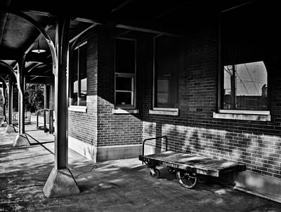Photograph - L And N Train Depot In B/w by Greg Jackson
