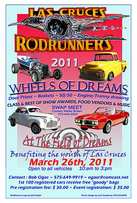 Hot Rod Mixed Media - L C Rodrunner Car Show Poster by Jack Pumphrey