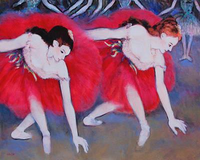 Charles Wallis Painting - L Imitations De Degas Ballerine Duex by Charles Wallis