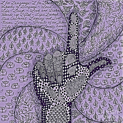 Asl Drawing - L In Asl by Veronique Cheney