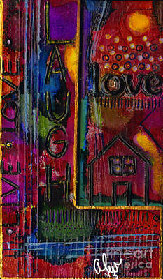 Mixed Media - L Is For Life by Angela L Walker
