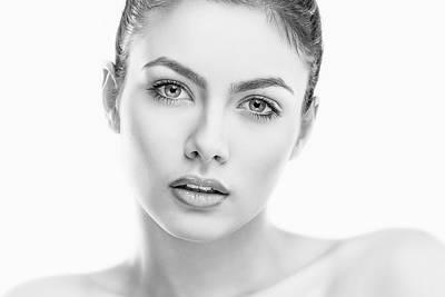 Lips Photograph - L. by Mihai (xaviro) Cvasnievschi