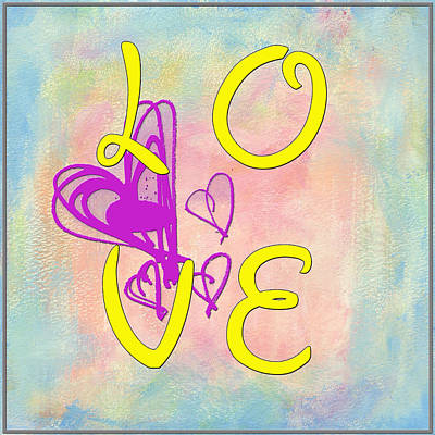 Digital Art - L O V E Disney Style by Paulette B Wright