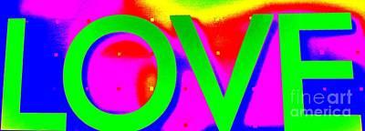 Photograph - L O V E by Ed Weidman