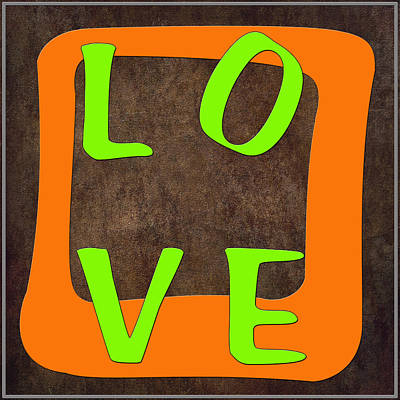 Digital Art - L O V E Squared by Paulette B Wright