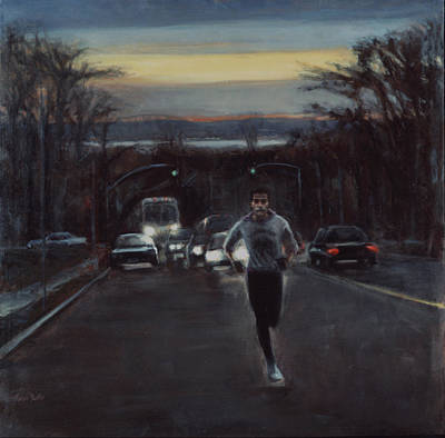 Painting - L. Rodriguez - Distance Runner by Sarah Yuster