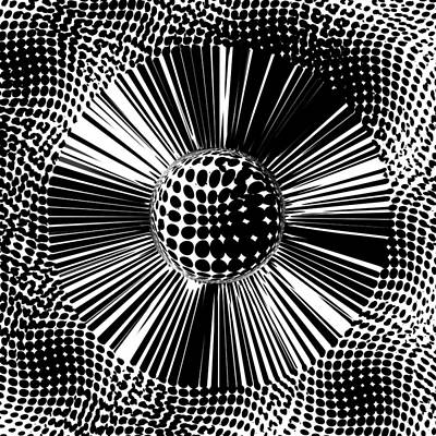 L S D On Canvas Abstract Dots  Art Print