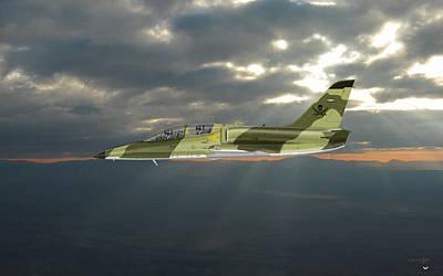 Digital Art - L39 Albatros Aero Vodochody by Arthur Eggers