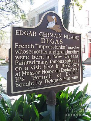 Of Edgar Degas Photograph - La-012 Edgar Germain Hilaire Degas by Jason O Watson