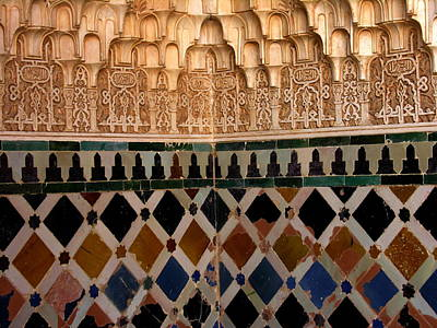 Photograph - la Alhambra Art Patterns - Grenada Spain by Jacqueline M Lewis