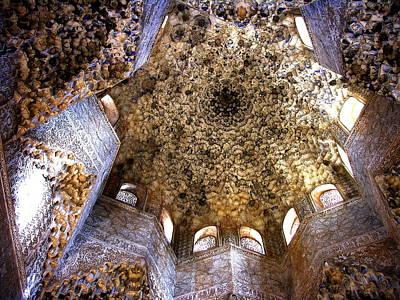Photograph - La Alhambra Ceiling -  Granada by Jacqueline M Lewis