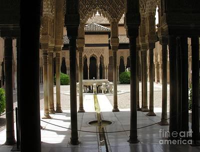 Photograph - Patio De Los Leones - La Alhambra by Jacqueline M Lewis