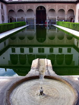 Photograph - la Alhambra Reflective Pool - Grenada Spain by Jacqueline M Lewis