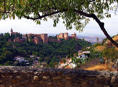 Photograph - la Alhambra view from Sacramonte - Grenada Spain by Jacqueline M Lewis