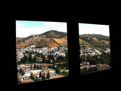 Photograph - la Alhambra view of Sacramonte Spain by Jacqueline M Lewis