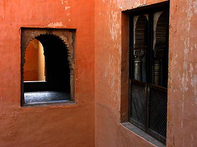 Photograph - la Alhambra Window study - Grenada Spain by Jacqueline M Lewis