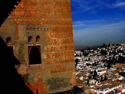 Photograph - la Alhambra with view - Grenada Spain by Jacqueline M Lewis