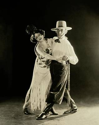 Dance Studio Photograph - La Argentina Dancing With A Man by James Abbe