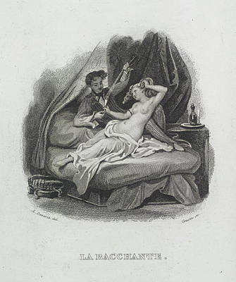 Depictions Of Nudity Photograph - La Bacchante by British Library