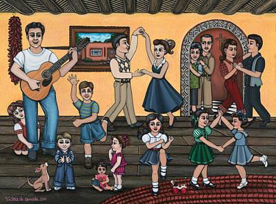 Hispanic Art Painting - La Bamba by Victoria De Almeida