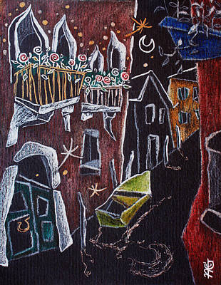 Venezia Drawing - La Barca Gialla - Palais Venise Grand Canal - Kunstgalerie by Arte Venezia