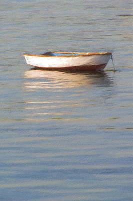 La Barque Au Crepuscule Art Print