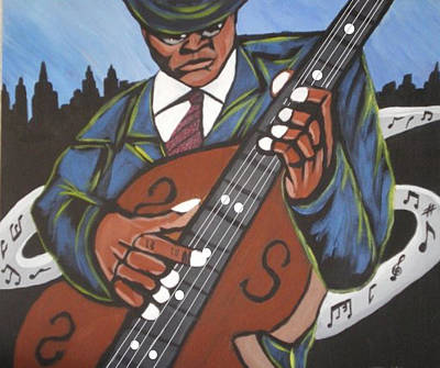 On Cavas Painting - La Bass by Donald Lyons