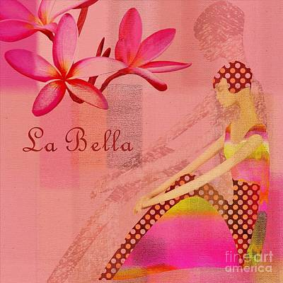 Abstract Realism Digital Art - La Bella - Pink - 064152173-01 by Variance Collections