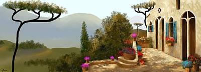 Painting - La Bella Terrazza by Larry Cirigliano