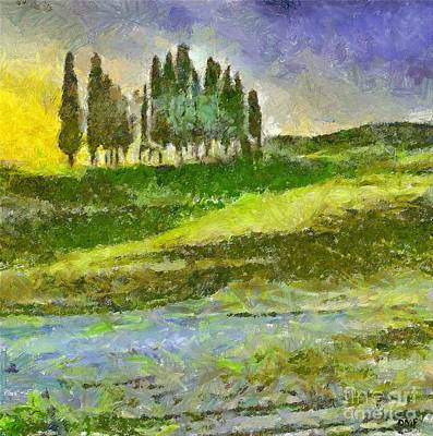 Italy Painting - La Bella Toscana by Dragica  Micki Fortuna