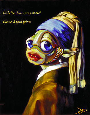 Pearl Earring Painting - Fish With The Pearl Earring by Patrick Anthony Pierson