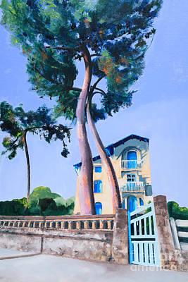 Royan Painting - La Belle Epoch St Palais Sur Mer by Beryl Noyce