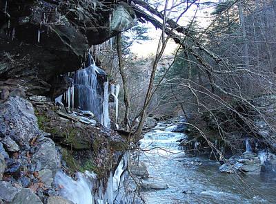 Photograph - La Belle Falls In Seasonal Chill by Terrance DePietro