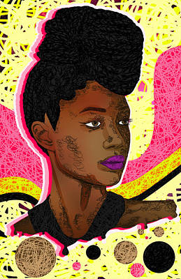 La Belle Tia Art Print by Kenal Louis