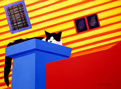 Painting - La Boca Cat Nap by JoeRay Kelley