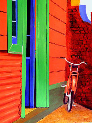 Painting - La Boca-reserved Parking by JoeRay Kelley