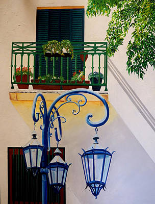 Painting - La Boca Shadows by JoeRay Kelley