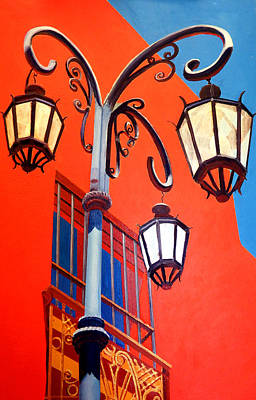 Painting - La Boca Street Lamps #21 by JoeRay Kelley