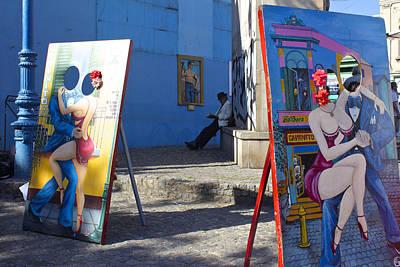 La Boca Blue Art Print